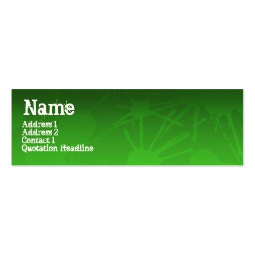 STREET SPLATTER green Business Cards