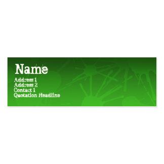 STREET SPLATTER green Mini Business Card