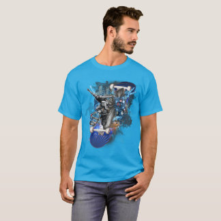 Street Surfer, Skateboard Collage, T-Shirt