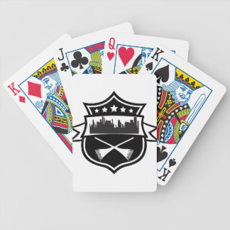 street sweeper bicycle playing cards