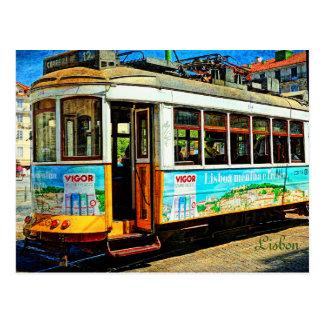 Street Tram in Lisbon Postcard