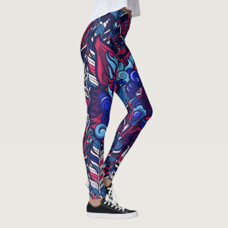 Street Urban Beasts of The Hidden Wild Leggings