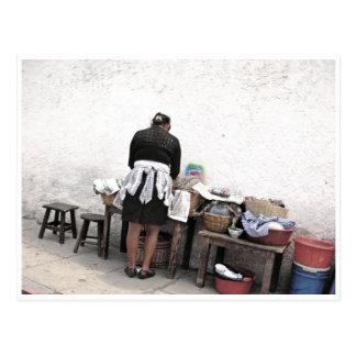 Street Vendor Postcard