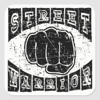 street warrior square sticker