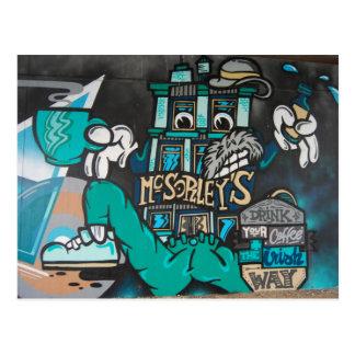 Streetart : crazy funny irlandais graffitis coffee cartes postales