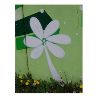Streetart postcard flower graffiti