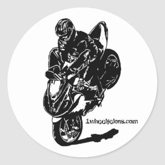 Streetbike stunt stickers stoppie 1wheelfelons.com