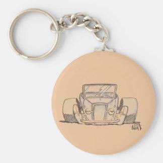 Streetrod on a Button Keychain