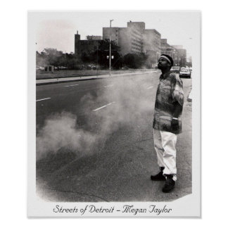Streets of Detroit Poster