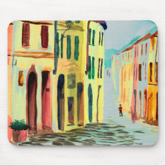Streets of Italy Watercolour Mouse Pad
