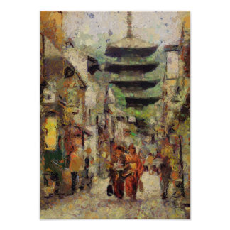 Streets of Kyoto print