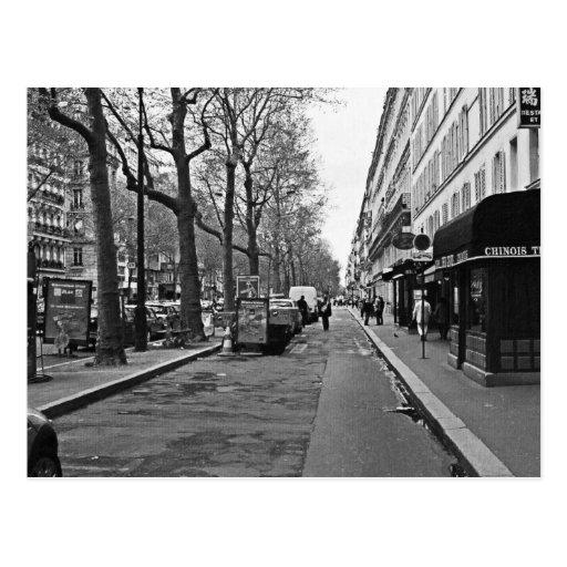 Streets of Paris Post Card
