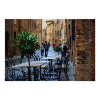 Streets of San Gimignano Photo Print