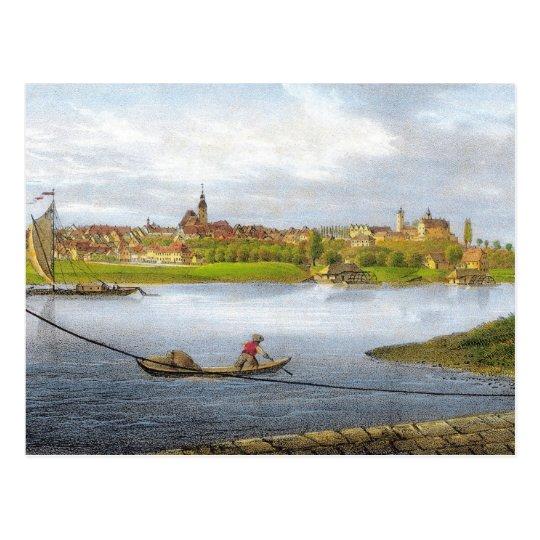 Strehla by Carl Wilhelm Arldt 1840 Postcard