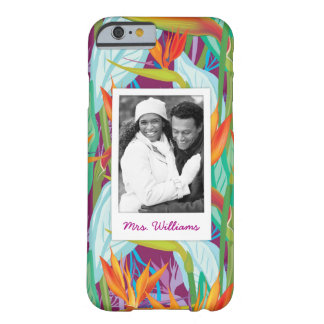 Strelitzia Pattern | Add Your Photo & Name Barely There iPhone 6 Case