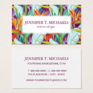 Strelitzia Pattern Business Card