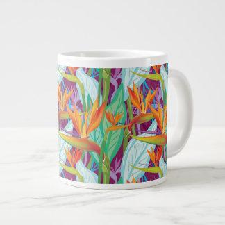 Strelitzia Pattern Giant Coffee Mug