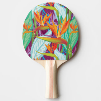 Strelitzia Pattern Ping-Pong Paddle