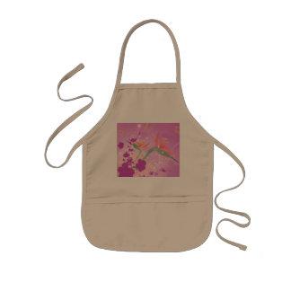 Strelizie beautiful flower apron
