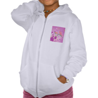Strelizie beautiful flower hooded pullover