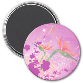 Strelizie beautiful flower refrigerator magnets