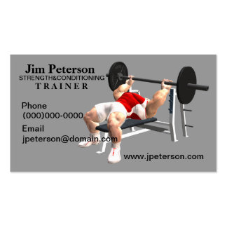 Strength and Conditioning Trainer Business Cards