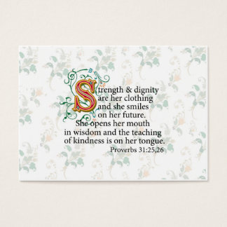 Strength and Dignity and Courage Business Card