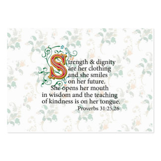 Strength and Dignity and Courage Large Business Card