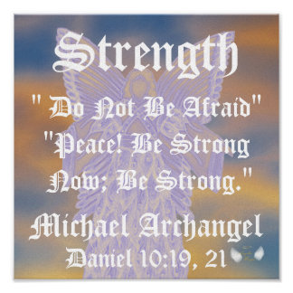 Strength And Peace Michael Archangel-Customize Poster
