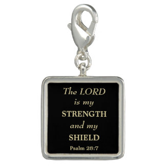 Strength and Shield Gold Christian Charm