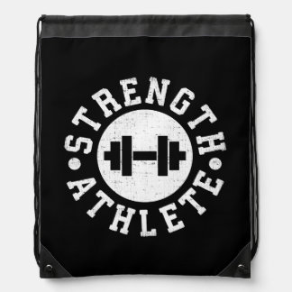 Strength Athlete Drawstring Bag