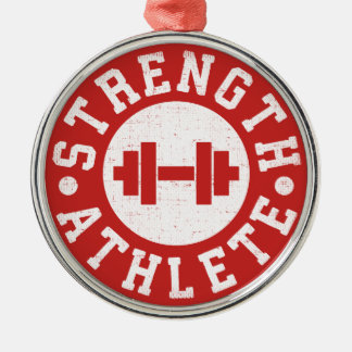 Strength Athlete Metal Ornament