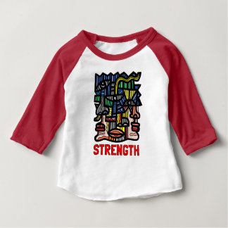 """Strength"" Baby 3/4 Raglan T-Shirt"