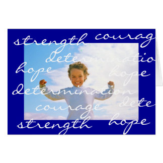 strength courage hope determination card