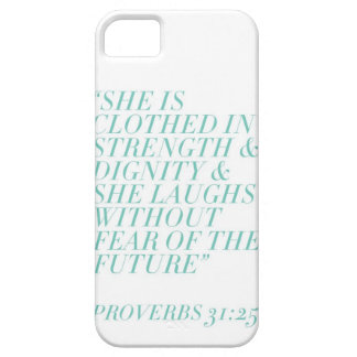 Strength & Dignity (White) iPhone 5 Cover