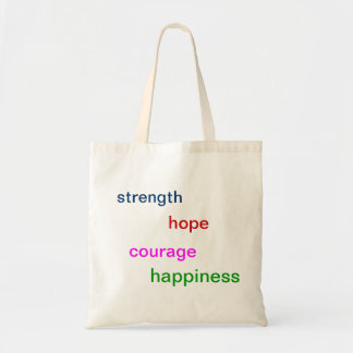 """""""Strength, hope, courage, happiness"""" tote-bag"""