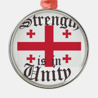 Strength In Unity Silver-Colored Round Ornament