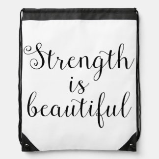 Strength is Beautiful Drawstring Backpack