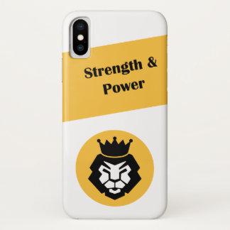 Strength lion & power iPhone x case