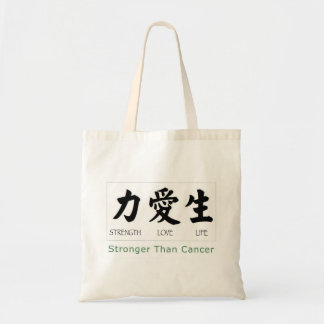Strength Love Life: Stronger Than Cancer Tote Bag