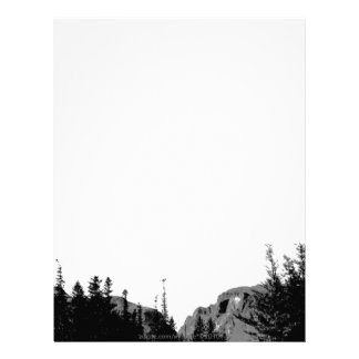Strength/Mountain Scenery in B/W Letterhead