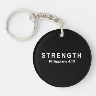Strength Philippians 4:13 Single-Sided Round Acrylic Keychain