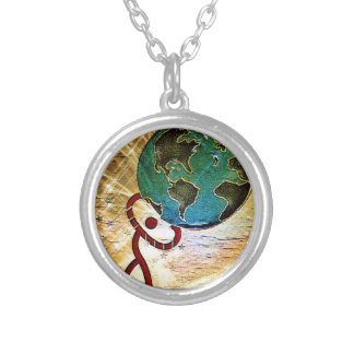 Strength Silver Plated Necklace