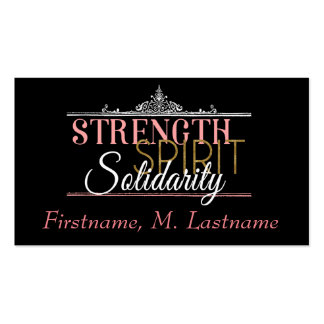 Strength, Spirit, Solidarity Business Cards