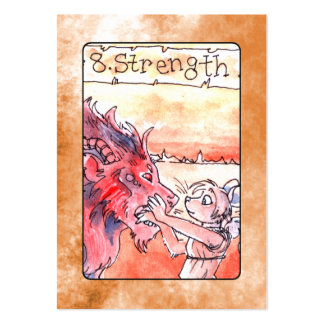 Strength Tarot Card Pack Of Chubby Business Cards