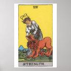Strength Tarot Card Poster