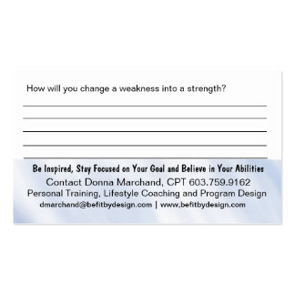 Strength Training Handout Card Business Card