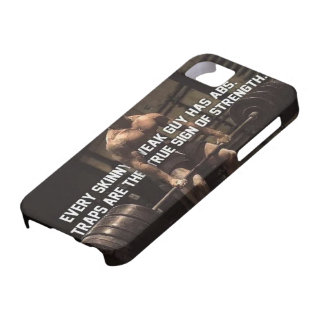 Strength Training Motivation - Traps - Workout iPhone 5 Case
