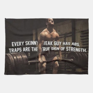 Strength Training Motivation - Traps - Workout Kitchen Towel