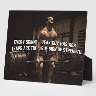 Strength Training Motivation - Traps - Workout Plaque